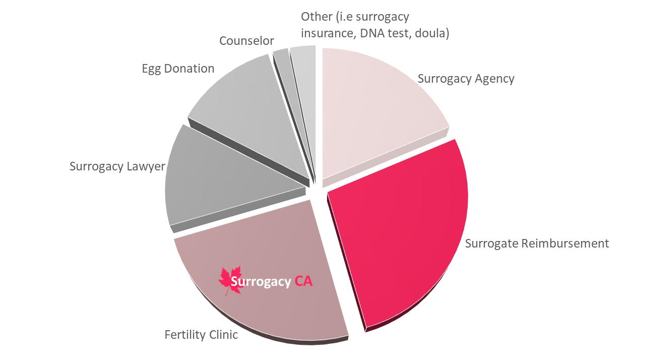 Breakdown of surrogacy costs in Canada